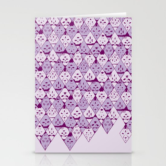 Diamond Faces Stationery Card