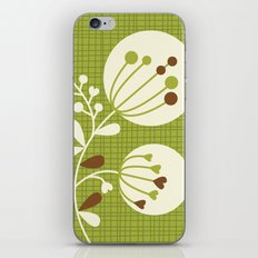 Retro Lime Bouquet iPhone & iPod Skin