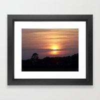 Sunset In Hilton Head Framed Art Print