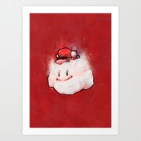 mario Art Prints featuring Mario by Ronan Lynam