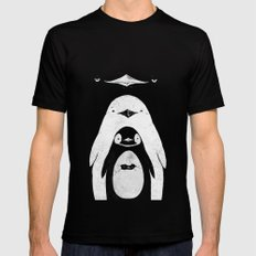 Penguinception MEDIUM Black Mens Fitted Tee