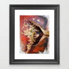 Red Mask Framed Art Print