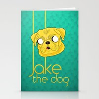 Jake the dog Stationery Cards