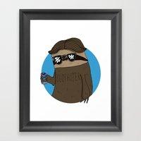 Slothster Framed Art Print