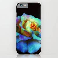 iPhone Cases featuring Pastel Rainbow Rose by minx267