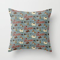 I Love Country Throw Pillow