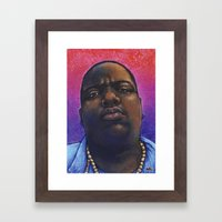 Biggie Smalls, The Notorious BIG - Hip Hop Art Print Framed Art Print