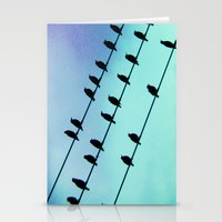 Birds & Lines #2 Stationery Cards