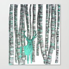 Turquoise Stag Canvas Print