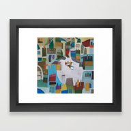 Street Quartet Framed Art Print