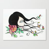 Flowing Beauty Canvas Print
