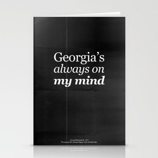 Georgia's always on my mind Stationery Card
