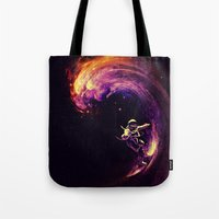 Space Surfing Tote Bag