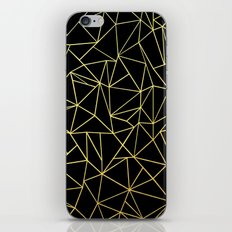 Abstraction Outline Gold on Black iPhone & iPod Skin