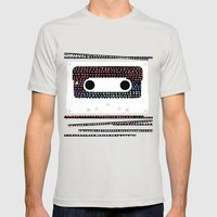 ANALOG - CASSETTE Mens Fitted Tee Silver SMALL