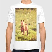 All the Pretty Horses Mens Fitted Tee White SMALL