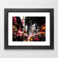 New York City Night II Framed Art Print