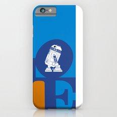 Robot LOVE - Blue Slim Case iPhone 6s