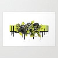 3D GRAFFITI - ESCAPE Art Print