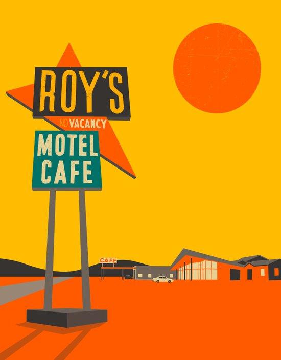Roys Cafe, Route 66 Art Print