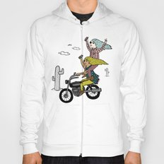 On the freedom experienced by Desert Bike Harpies.   Hoody