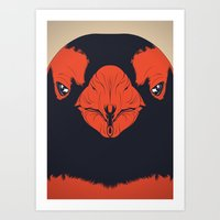 penguin Art Prints featuring Penguin by CranioDsgn