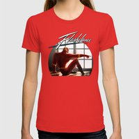 The Flash Dance Womens Fitted Tee Red SMALL