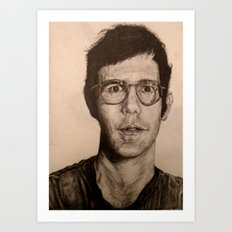 Man in Glasses Art Print