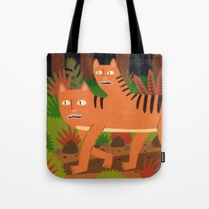 Two-headed Cat Tote Bag