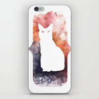White Cat iPhone & iPod Skin