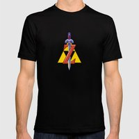 Zelda Snes Mens Fitted Tee Black SMALL