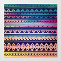 SURF TRIBAL PATTERN Canvas Print