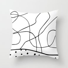 lines & dots Throw Pillow