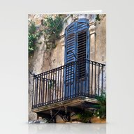 Blue Sicilian Door On Th… Stationery Cards