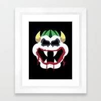Joke's On You Bowser Framed Art Print