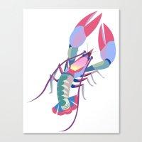 Pink Lobster Canvas Print