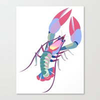 Pink Lobster Canvas Print