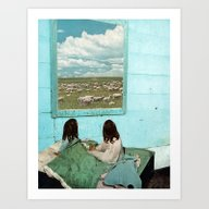 Art Print featuring COUNT SHEEP by Beth Hoeckel Collage…