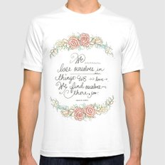 Lose Yourself Mens Fitted Tee White SMALL