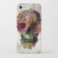 floral iPhone & iPod Cases featuring SKULL 2 by Ali GULEC