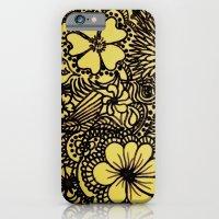 Hippy Happy Golden Flower power iPhone 6 Slim Case