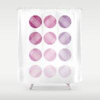Line Round Shower Curtain
