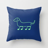Foot Note II Throw Pillow