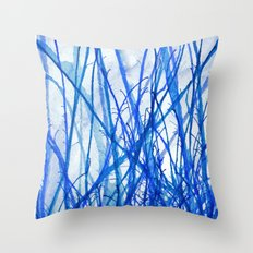 Blue Holiday Throw Pillow