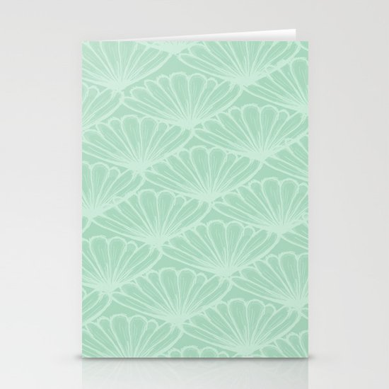 Lady in Mint Stationery Card