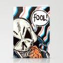 skull foolery Stationery Cards