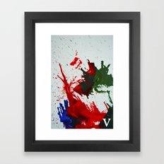 melted wax Framed Art Print