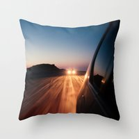 4x4 Sunset Drive Throw Pillow