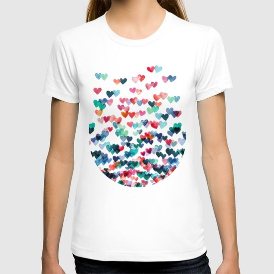 Heart Connections - watercolor painting T-shirt