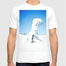 Snow Blown White Mens Fitted Tee SMALL